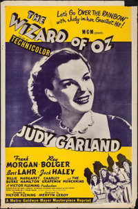 "The Wizard of Oz (MGM, R-1955). One Sheet (27"" X 41""). Fantasy"