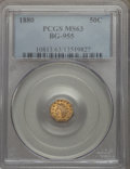 California Fractional Gold , 1880 50C Indian Octagonal 50 Cents, BG-955, R.6, MS63 PCGS. PCGSPopulation: (5/9). NGC Census: (0/1). . From The Morg...