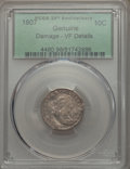 Early Dimes, 1807 10C -- Damage -- PCGS Genuine. VF Details. PCGS Population:(19/275). CDN: $1,300 Whsle. Bid for pr...