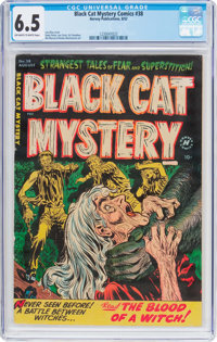Black Cat Mystery #38 (Harvey, 1952) CGC FN+ 6.5 Off-white to white pages