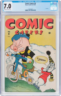 Comic Capers #6 (Red Circle/Marvel, 1946) CGC FN/VF 7.0 Off-white to white pages