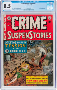 Crime SuspenStories #15 (EC, 1953) CGC VF+ 8.5 Off-white to white pages