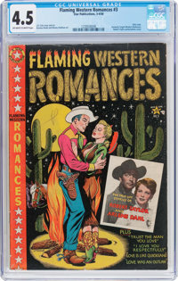 Flaming Western Romances #3 (Star Publications, 1950) CGC VG+ 4.5 Off-white to white pages