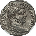 Ancients:Roman Provincial , Ancients: SYRIA. Antioch. Caracalla (AD 198-217). AR tetradrachm(12.15 gm). NGC MS ★ 5/5 - 5/5....