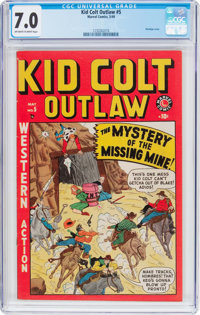 Kid Colt Outlaw #5 (Atlas/Marvel, 1949) CGC FN/VF 7.0 Off-white to white pages