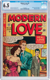 Modern Love #8 (EC, 1950) CGC FN+ 6.5 Off-white to white pages