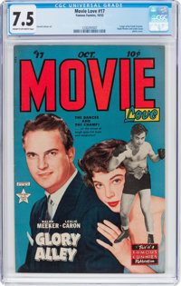 Movie Love #17 (Famous Funnies Publications, 1952) CGC VF- 7.5 Cream to off-white pages