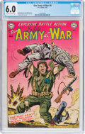 Golden Age (1938-1955):War, Our Army at War #8 (DC, 1953) CGC FN 6.0 Off-white to white pages....