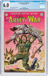 Our Army at War #8 (DC, 1953) CGC FN 6.0 Off-white to white pages