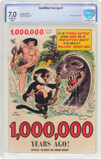 1,000,000 Years Ago #1 (St. John, 1953) CBCS FN/VF 7.0 Off-white to white pages