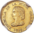 Colombia, Colombia: Republic gold Peso 1838 BOGOTA-RS MS66 NGC,...