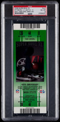 Football Collectibles:Tickets, 2006 Super Bowl XL (Green) Full Ticket PSA NM-MT 8 - Pittsburgh Steelers Win 5th Super Bowl.. ...