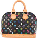 "Luxury Accessories:Bags, Louis Vuitton Black Multicolore Monogram Canvas Alma PM Bag.Excellent Condition. 12"" Width x 9"" Height x 4""Depth. ..."