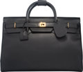 "Luxury Accessories:Bags, Gucci Black Pork Leather Travel Bag. Very Good Condition. 21""Width x 15"" Height x 10"" Depth. ..."