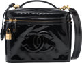 "Luxury Accessories:Bags, Chanel Black Patent Leather Camera Bag. Good Condition.9.5"" Width x 7"" Height x 6.5"" Depth. ..."