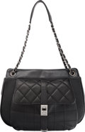"Luxury Accessories:Bags, Chanel Black Quilted Leather Shoulder Bag. Good to Very GoodCondition. 12"" Width x 9"" Height x 3.5"" Depth. ..."