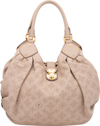 """Louis Vuitton Beige Perforated Monogram Mahina Leather XL Bag Very Good to Excellent Condition 13.5"""" Width x"""