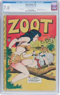 Zoot Comics #12 (Fox Features Syndicate, 1948) CGC FN/VF 7.0 Off-white to white pages