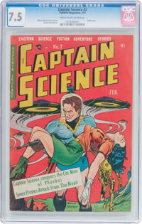 Captain Science #2 (Youthful Magazines, 1951) CGC VF- 7.5 Cream to off-white pages