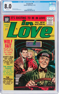 In Love #4 (Charlton, 1955) CGC VF 8.0 White pages