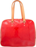 """Luxury Accessories:Bags, Louis Vuitton Rouge Red Monogram Vernis Leather Sutton Bag. VeryGood to Excellent Condition. 15.5"""" Width x 12"""" Height..."""