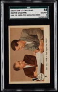 """Baseball Cards:Singles (1950-1959), 1959 Fleer Ted Williams """"Ted Signs"""" #68 SGC 88 NM/MT 8...."""