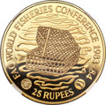 "Seychelles: Republic gold ""World Fisheries Conference"" Proof 25 Rupees 1983 PR70 Ultra Cameo NGC"