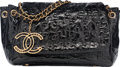 """Luxury Accessories:Bags, Chanel Black Quilted Patent Leather Puzzle Shoulder Bag with GoldHardware. Very Good Condition. 11"""" Width x 7""""Height..."""