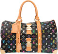 "Luxury Accessories:Travel/Trunks, Louis Vuitton Multicolore Monogram Canvas Keepall 45 Bag. VeryGood Condition. 18"" Width x 10"" Height x 8"" Depth. ..."