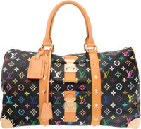 """Louis Vuitton Multicolore Monogram Canvas Keepall 45 Bag Very Good Condition 18"""" Width x 10"""" Height x 8""""..."""