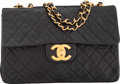 """Luxury Accessories:Bags, Chanel Black Quilted Lambskin Leather Maxi Flap Bag. Very Goodto Excellent Condition. 13"""" Width x 9"""" Height x 3.5""""De..."""