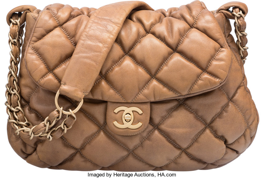 1e5793842f97 Good; Luxury Accessories:Bags, Chanel Brown Quilted Lambskin Leather Bubble  Quilt Flap Bag.