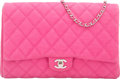 "Luxury Accessories:Bags, Chanel Pink Quilted Caviar Leather Flap Bag. Very GoodCondition. 11"" Width x 7"" Height x 1.5"" Depth. ..."