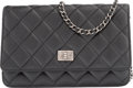 "Luxury Accessories:Bags, Chanel Black Quilted Distressed Lambskin Leather Reissue Wallet onChain Bag. Very Good to Excellent Condition. 7.5""W..."