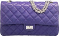 "Luxury Accessories:Bags, Chanel Purple Quilted Lambskin Leather Reissue Jumbo Double Flap Bag with Silver Hardware. Excellent Condition. 11"" Wi..."