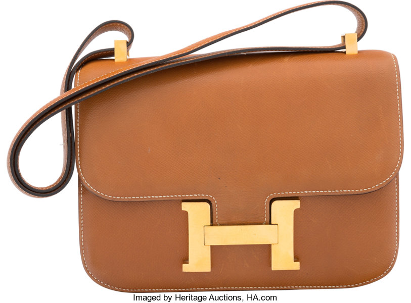 8aabc2fd0018 Hermes 23cm Gold Courchevel Leather Constance Bag with
