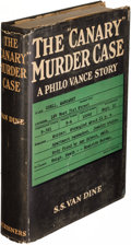 "Books:Mystery & Detective Fiction, S. S. Van Dine. The ""Canary"" Murder Case. New York: 1927.First edition.. ..."
