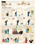 Original Comic Art:Comic Strip Art, Harry J. Tuthill (as H.J. Tuthill) The Bungle Family and Little Brother Sunday Comic Strips Original A... (Total: 3 Original Art)