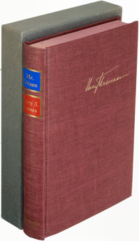 Harry Truman. Mr. Citizen. [New York: 1960]. First edition, limited issue, signed