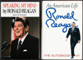 Books:Biography & Memoir, Ronald Reagan. Group of Two Books. New York: [1989, 1990]. Firsteditions, signed bookplates.... (Total: 2 Items)