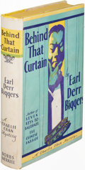 Books:Mystery & Detective Fiction, Earl Derr Biggers. Behind That Curtain. Indianapolis:[1928]. First edition....