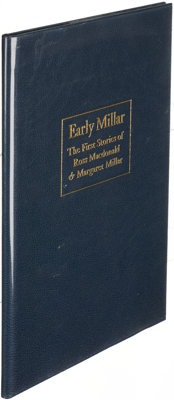 [Ross Macdonald]. Early Millar. Santa Barbara: 1982. First edition, Roman numeral is