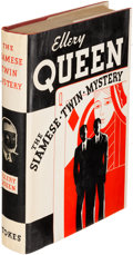 Books:Mystery & Detective Fiction, Ellery Queen. The Siamese Twin Mystery. New York: 1933.First edition, signed by Frederic Dannay....