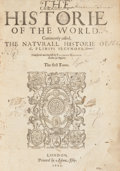 Books:World History, [Pliny the Elder]. Caius Plinius Secundus. The Historie of theWorld. Commonly Called, the Naturall Historie of C....