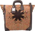 """Luxury Accessories:Bags, Etro Black & Brown Paisley Canvas Tote Bag. ExcellentCondition. 15"""" Width x 16"""" Height x 6"""" Depth. ..."""