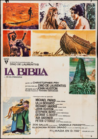 "The Bible & Other Lot (RKO, 1966). Folded, Fine/Very Fine. Spanish One Sheets (2) (27.5"" X 39"") & Aust..."