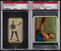 Boxing Cards:General, 1908 T226 Red Sun Charley Griffin & 1910 T218 Champions Jack Johnson (Side Face) PSA Graded Pair (2)....