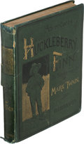 Books:Literature Pre-1900, Mark Twain. Adventures of Huckleberry Finn. New York: 1885.First U. S. edition....
