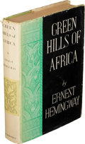 Books:Biography & Memoir, Ernest Hemingway. Green Hills of Africa. New York, London:1935. First edition....