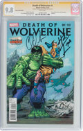 Modern Age (1980-Present):Superhero, Death of Wolverine #1 Desert Wind Edition - Signature Series(Marvel, 2014) CGC NM/MT 9.8 White pages....